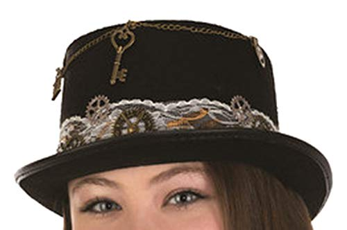 Jacobsen Hat Co Felt Steampunk Top Hat with Lace Band -