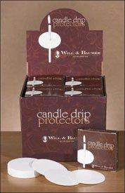 Church Service Vigil 3 Inch Diameter White Paper Candle Drip Protector Bobeche - 50/PK