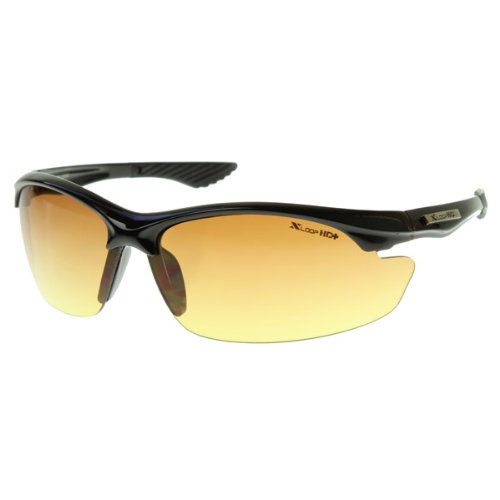 oakley night driving glass  amazon: xloop hd vision high definition anti glare lens sunglasses wrap semi rimless: shoes