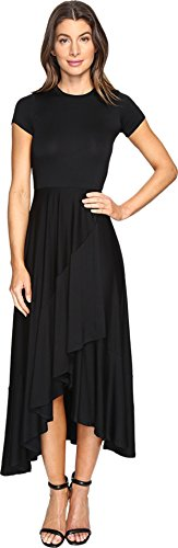 Rachel Pally Spandex Skirt (Rachel Pally Women's Ruffle Wrap Dress Black Dress)