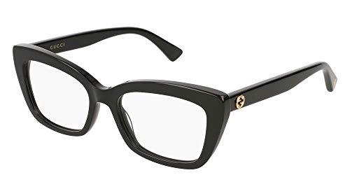 Eyeglasses Gucci GG 0165 O- 001 BLACK / (Cat Women Eyeglasses Frame)