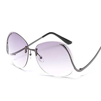 MDKCDUBP Gafas De Sol para Mujer Gafas De Sol Sin Montura ...