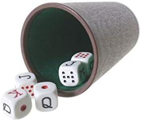 CAL FUSTER - Cubilete con Cinco Dados para Juego de póker. Medidas: 9xØ7 cm.: Amazon.es: Juguetes y juegos