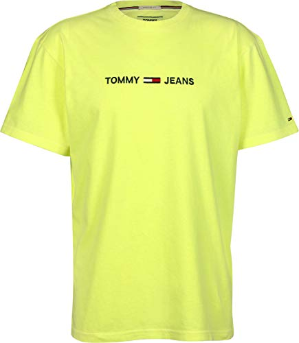 shirt Text Tommy Jeans Giallo T Small 0xpUTS