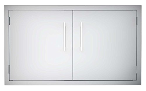 Sunstone B-DD36 Double Raised Doors for Stone Island with Shelves, 36-Inch