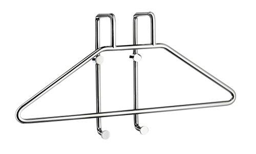 - Smedbo DK1080 Wall-Mounted Robe Valet Hanger System, Polished Chrome,