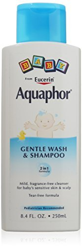 Aquaphor Baby Gentle Wash & Shampoo Tear Free, Fragrance Free Mild Cleanser, 8.4 oz by Eucerin by Eucerin