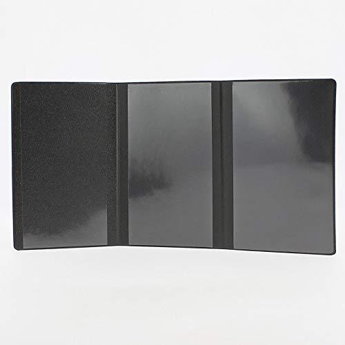 noir Etui PVC gomme pour carte grise 133x264 mm