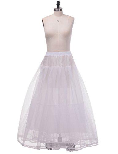 A-line Bridal Wedding Gown Crinoline (Remedios Hoopless A Line Petticoat Bridal Gown Crinoline Underskirt4Layer S-MS-M(US2-16W))