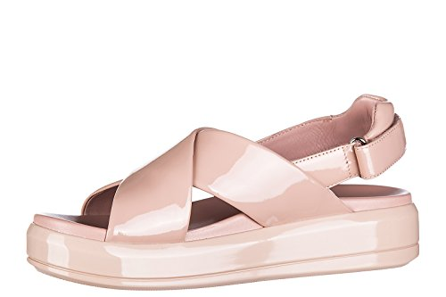 nuevo pintar rosa mujer piel soft en sandalias Prada zIXq11