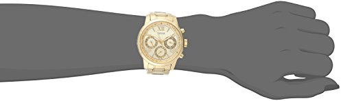 dce13b8705123 GUESS Women s U0330L1 Sporty Gold-Tone Stainless Steel Watch with ...