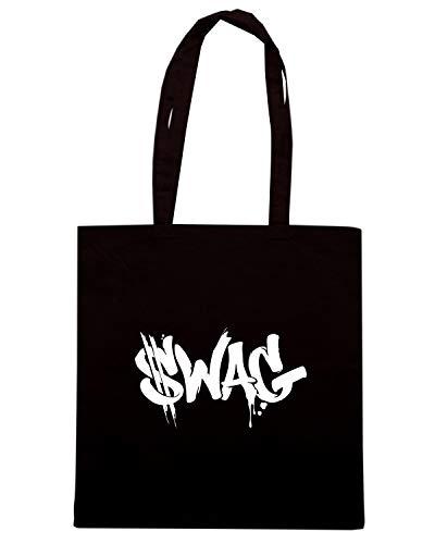 Borsa Nera TAG FUN0243 Shopper SWAG rwRqr1
