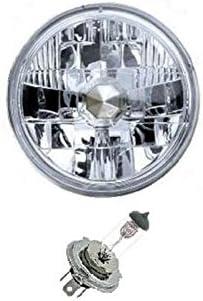 "5-3//4/"" Halogen Semi Sealed Beam Headlight Conversion Headlamp 60//55W H4 Bulbs"