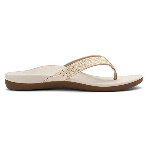 11 Toepost Rhinestone Vionic Sandal Tide Size Women's Champagne qgwFA0x
