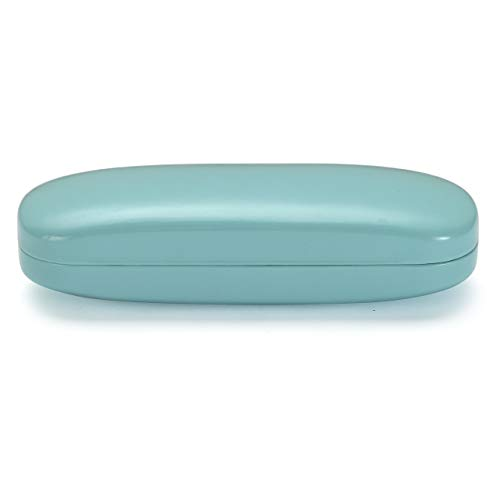 ALTEC VISION Glasses Case - Fits Small Medium Sunglasses - Turquoise/White