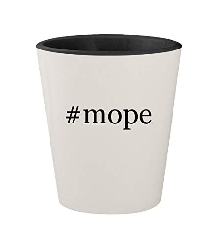 Price comparison product image #mope - Ceramic Hashtag White Outer & Black Inner 1.5oz Shot Glass