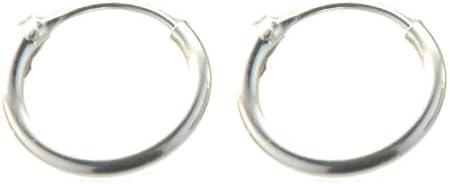 Boucles d/'oreilles Argent 925 Créoles 2mm Unisexe