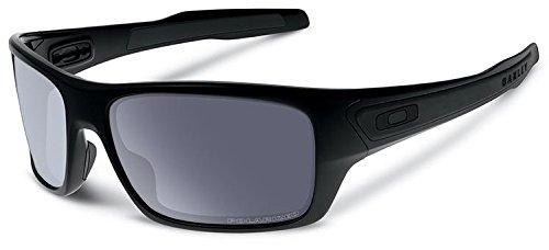 Oakley SI Turbine Polarized Sunglasses Matte Black Frame/Gray - Polarized Oakley Turbine