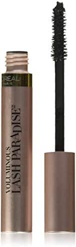 L'Oreal Paris Makeup Lash Paradise Mascara, Voluptuous Volume, Intense Length, Feathery Soft Full Lashes, No Flaking, No Smudging, No Clumping, Black, 0.25 Fl Oz (Pack of 1)