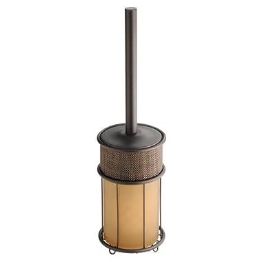 InterDesign Twillo Toilet Bowl Brush and Holder for Bathroom Storage - Bronze