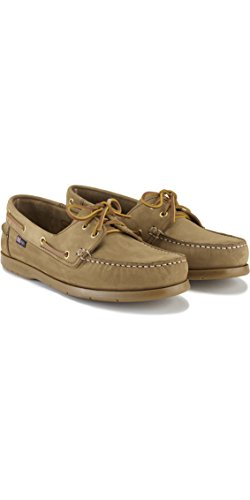 Henri Lloyd Arkansa Boat Shoes for Sailing Yachting - Deck Shoes Brown Nubuck Caramel - Lightweight. Breathable