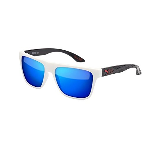 Sunglasses Puma PU0008S-006 WHITE / BLUE / BLACK by PUMA