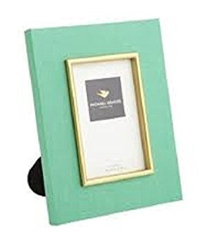 Michael Graves Raised Edge Photo Frames/5x7/fabric Covered /Green (Fabric Covered Picture Frame)