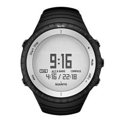 Suunto Men's Digital Core Glacier Multi-Function Black Silicone