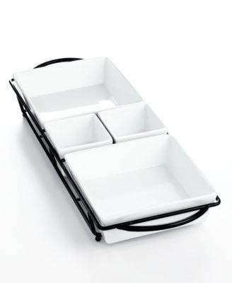The Cellar Whiteware 5 Piece Rectangular Server