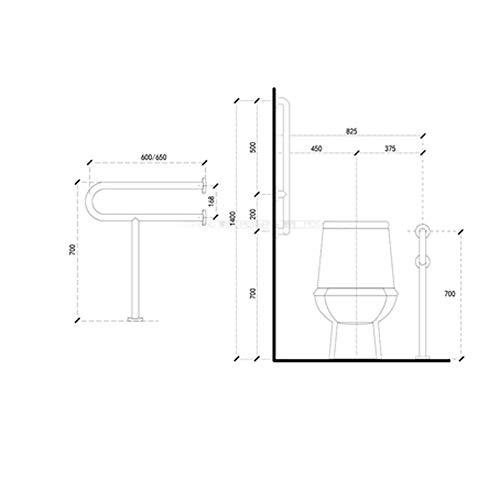 JYJgrab bar JYJ-Shower Grab Bars- Wall-Mounted, Stainless Steel Folding Detachable Non-Slip Safety Handrail, Disabled Bathroom Elderly Pregnant Women