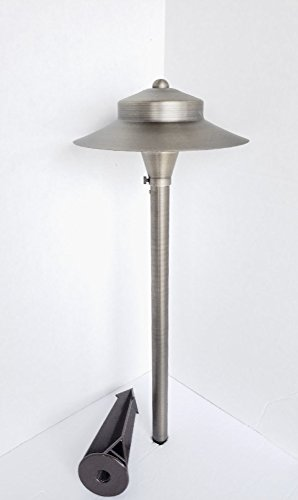 Pinnacle Lights Solid Brass Andromeda Path Light By LED Low Voltage Outdoor Landscape Lighting
