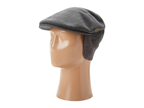 Kangol Wool 504 Cap With Earlaps- Dark Flannel, X-Large