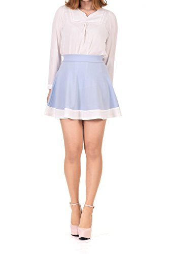 Two Tone Flared Circle Skater Skirt product image