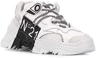 N°21 Luxury Fashion Donna 20ESP00040004S002 Bianco Pelle Sneakers   Primavera-Estate 20