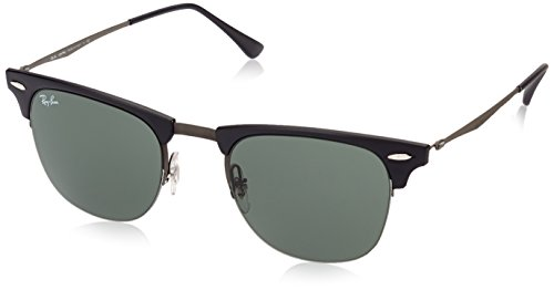 Ray-Ban TITANIUM MAN SUNGLASS - BLASTED GUNMETAL Frame GREEN Lenses 51mm - Titanium Sunglasses Ban Ray