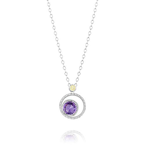 (Tacori SN14101 Sterling Silver Lilac Blossoms Bold Bloom Amethyst Necklace,)