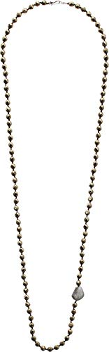 Chan Luu Women's Long Layering Matte Iolite Necklace Pyrite One ()