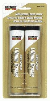 Plews-Edelmann 11302 Lubrimatic Multi-Purpose Lithium Grease, 3 oz Cartridge, Black (Pack of 2) by Plews