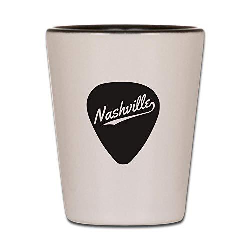 CafePress Nashville Guitar Pick Shot Glass, Unique and Funny Shot Glass