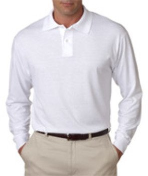 Jerzees Men's Long-Sleeve Jersey Polo