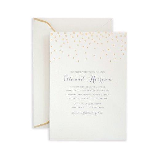 Gartner Studios Gold Foil Dot Invitation Kit, Set of 25