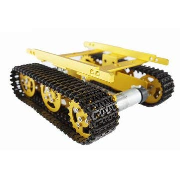 T100 Aluminum Alloy Tank Chassis Smart Robot Kit For - Arduino Compatible SCM & DIY Kits Smart Robot & Solar Panel - 1 x Chassis