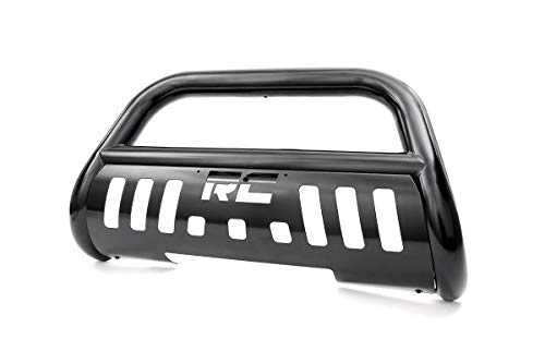 Rough Country Black Bull Bar Compatible w/ 2015-2019 Chevy Colorado GMC Canyon 4WD Push Bar Grille Guard B-C2151
