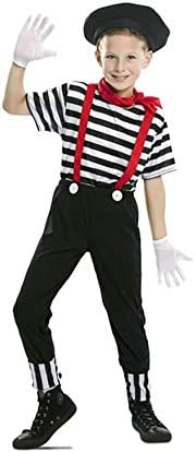 EUROCARNAVALES Disfraz de Mimo Circo para niño 5 a 6 años ...