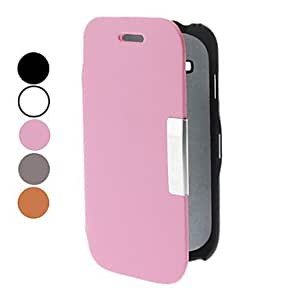 JJE PU Leather Full Body Case with Stand for Samsung Galaxy S3 mini I8190 (Assorted Colors) , Pink