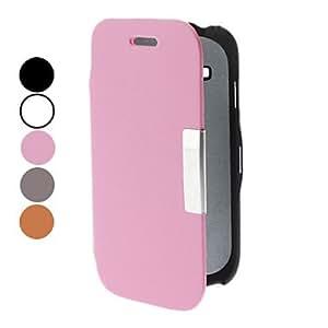 HOR PU de cuero de caso completo de cuerpo con soporte para Samsung Galaxy S3 I8190 mini (colores surtidos) , Naranja