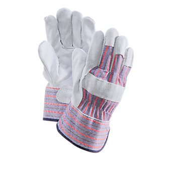 Economy Leather Palm Gloves - Mens Cowhide, Shoulder Split Grade, (12 Pairs)