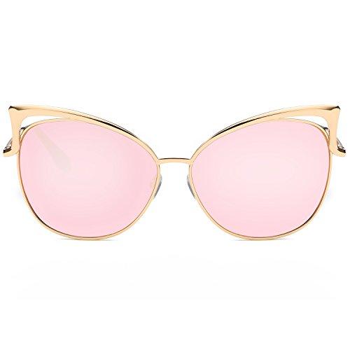 22e68de9cbb SojoS Fashion Cat Eye Style Metal Frame Women Sunglasses Lady - Import It  All
