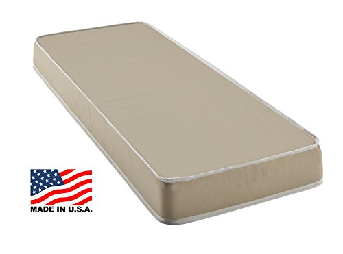 Customize Bed 4 Inch Foam Mattress with Fabric Cover, Cot size 30x74 for RV, Cot, Folding, Guest & Day Bed-- CertiPUR-US Certified Foam (Folding Rv Mattress compare prices)