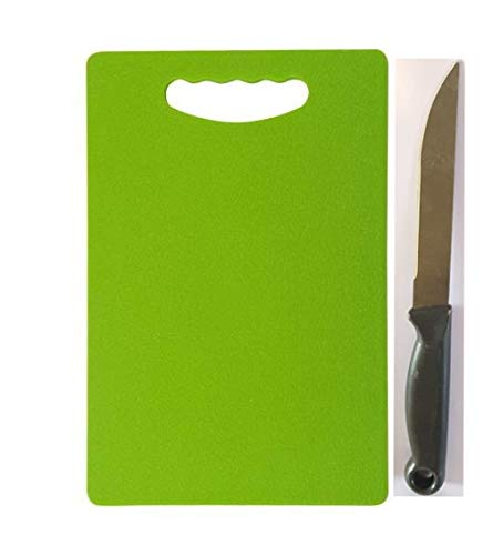 Amar Impex Premium Plastic Chopping Board with 1 Knife, Green Price & Reviews